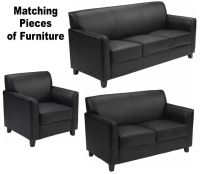 MATCHING Black Leather Furniture Sofa Loveseat Chair Sofas ...
