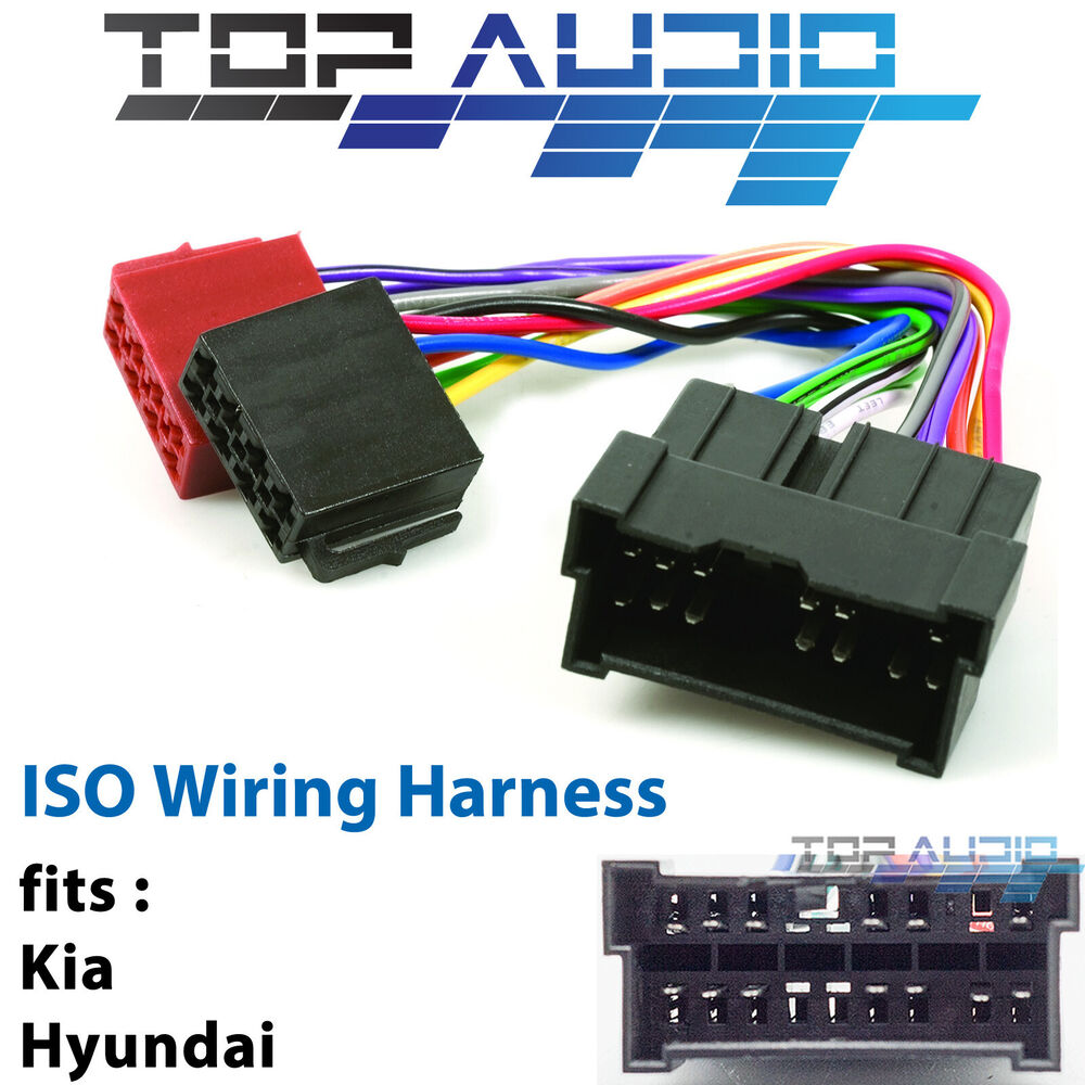hight resolution of details about fit kia carnival iso wiring harness adaptor cable connector lead loom plug wire