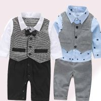 3PCS/Set Baby Boy Bow Tie Suit Formal Party Christening ...