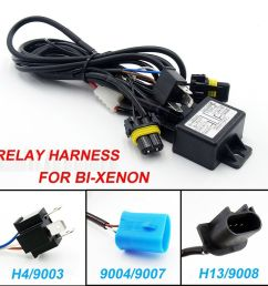 xenon hid wiring hid car relay harness h4 9003 9004 9007 h13  [ 1000 x 1000 Pixel ]