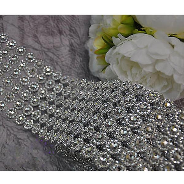 Diamond Mesh Rhinestone Wrap Bling Crystal Ribbon Diy