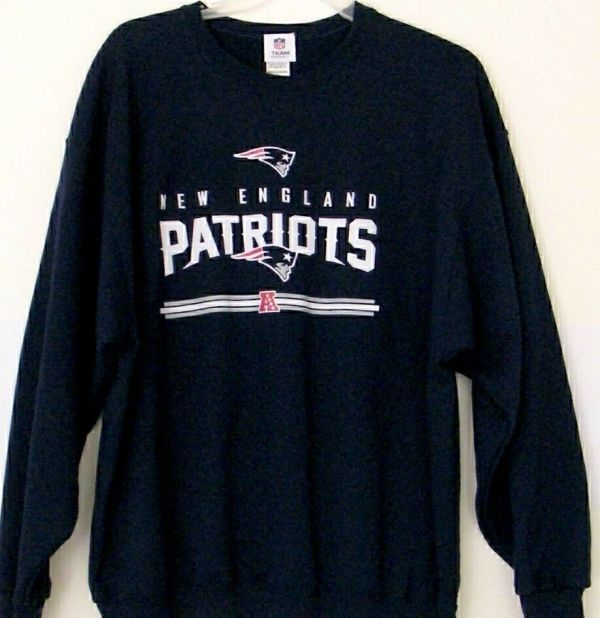 Nfl England Patriots Sweatshirt Blue 2xl Team Apparel