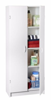 White Kitchen Pantry Storage Cabinet Wood Organizer 2 ...