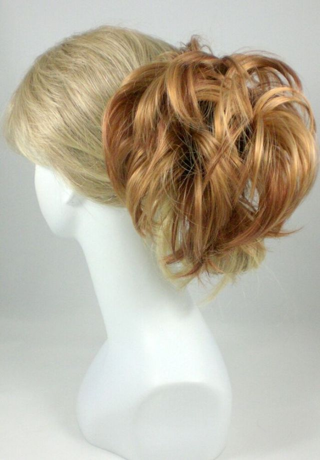Short Straight Hair  Ponytail w Bendable Wires Claw Clip