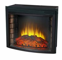 """24"""" Curved Electric Fireplace Insert - Firebox with Heater ..."""