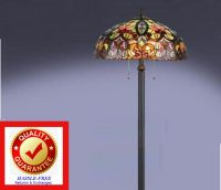 Tiffany Style Lamp / Floor Lamp Antique Bronze Finish Cut