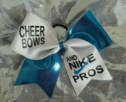 cheer bows and nike pros hair bow