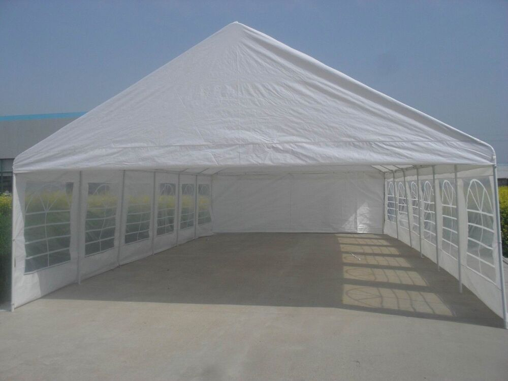 20x40 White Party Tent Fully Enclosed With Windows Top And Walls Only No Frame Ebay