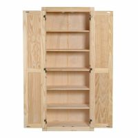 Kitchen Pantry Storage Cabinet Unfinished Pine Wood 6