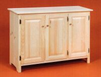 AMISH Unfinished Solid Pine ~ Rustic SIDEBOARD Buffet ...