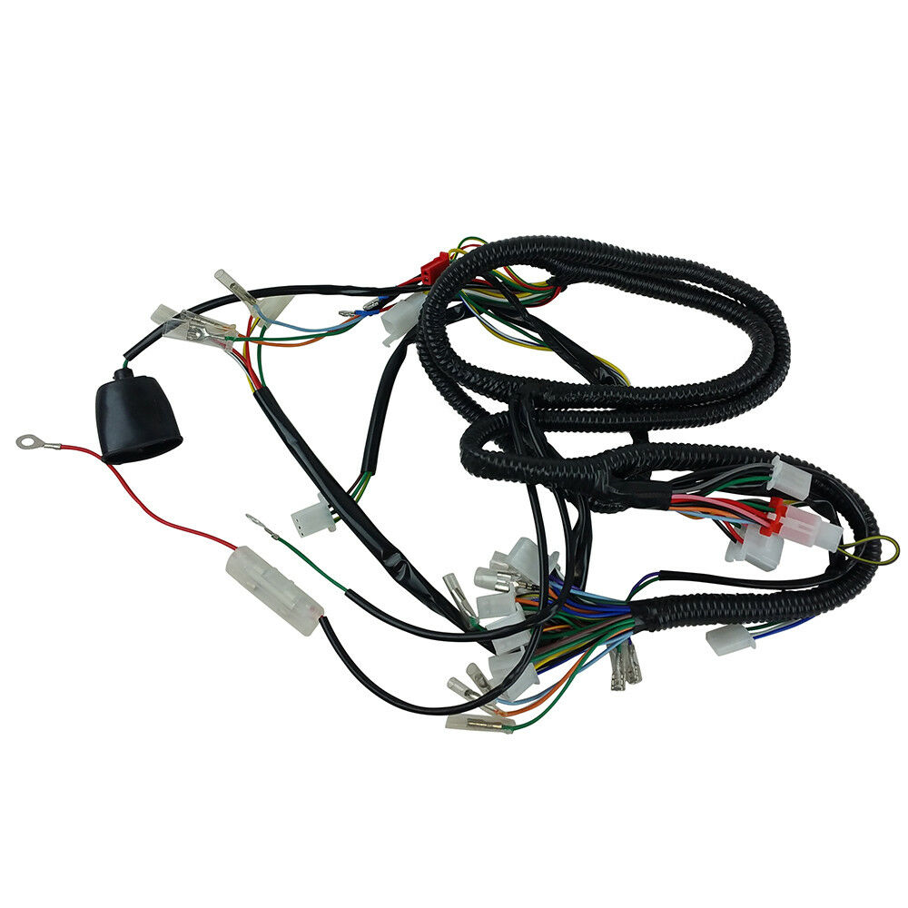 hight resolution of chinese gy6 150cc wire harness wiring assembly scooter moped sunl sunl go kart wiring harness