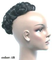curly wiglet topper hair piece