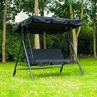 Patio Swing Chair 3 Person Outdoor Garden Hammock Canopy ...