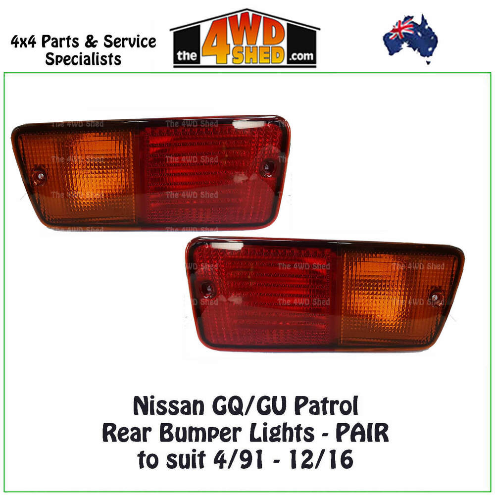 hight resolution of details about tail lights pair suit nissan gq gu patrol rear bumper brake indicator new