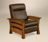 Amish Mission Arts and Crafts Recliner Chair Barrington ...