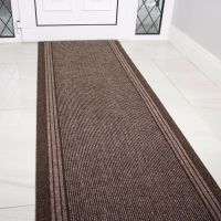 NEW Brown Rubber Backed Very Long Hallway Hall Runner ...