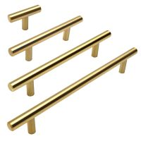 Cosmas Cabinet Hardware Brushed Brass 305 Series Euro