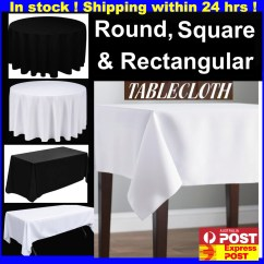 Cotton Wedding Chair Covers To Buy 4 Kitchen Chairs Black White Round Square Tablecloths Table Cloth Full Seat Clips | Ebay