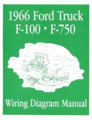 FORD 1966 F100  F750 Truck Wiring Diagram Manual 66 | eBay