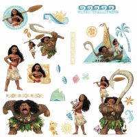 28 DISNEY MOANA & MAUI Wall Decals Peel & Stick Stickers ...