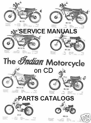 20+ INDIAN Enduro Dirtbike Motorcycle Service Manuals