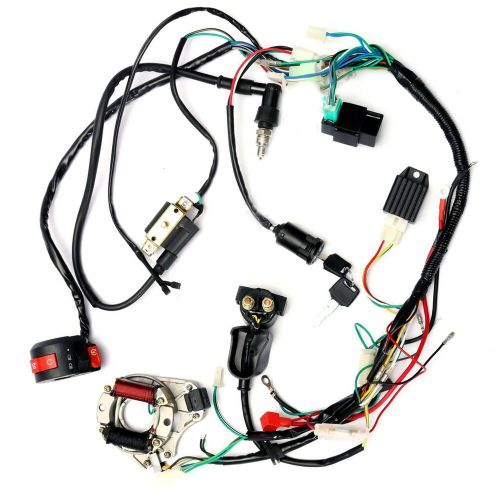 small resolution of details about zebra electrics atv quad stator coil cdi wiring harness z16b8 50cc 70cc 110cc