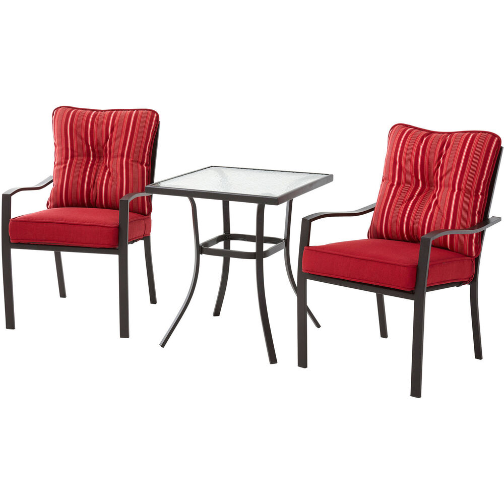 Patio Bistro Set Outdoor Furniture Table Chairs 3 Piece