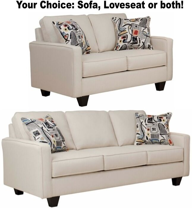 black leather sleeper sofa set two sided contemporary beige cream loveseat sofas living room furniture ...