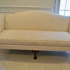 Wesley Sofa Valencia Black Recliner Leather Vintage Sherrill Queen Anne Loveseat Settee Shell ...
