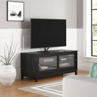 Black Glass Entertainment TV Media Center Stand Unit Video ...