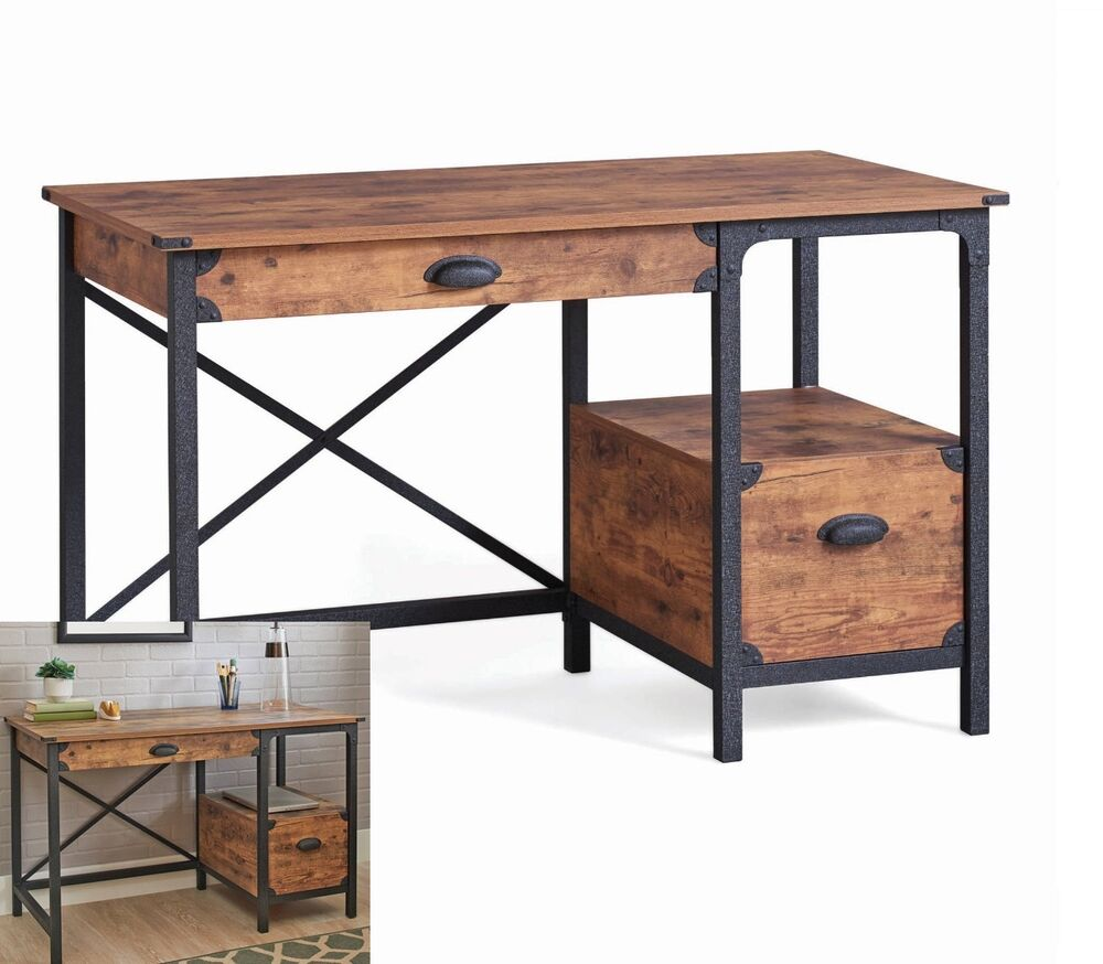 Rustic Antique Writing Desk Small Home Office Table Pine