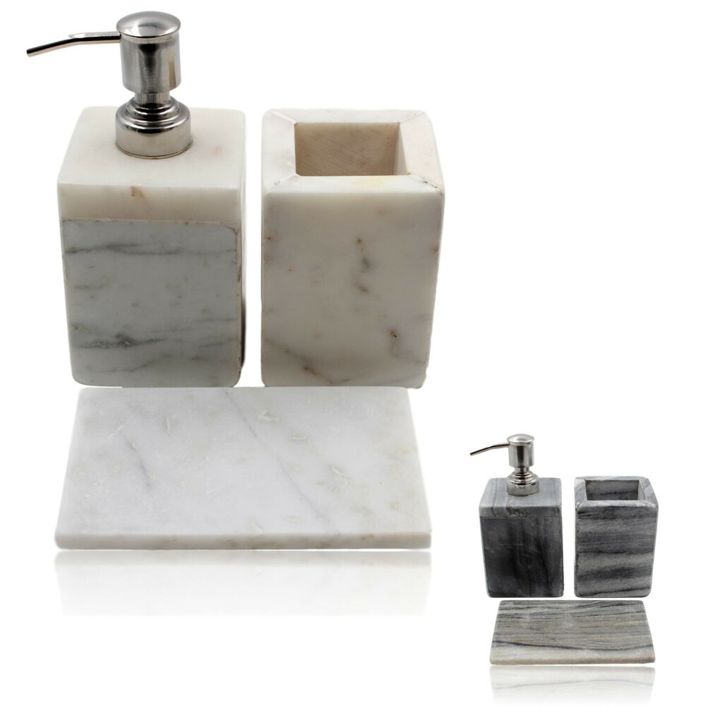 100 Real Stone Marble Bathroom Accessory Set Contemporary