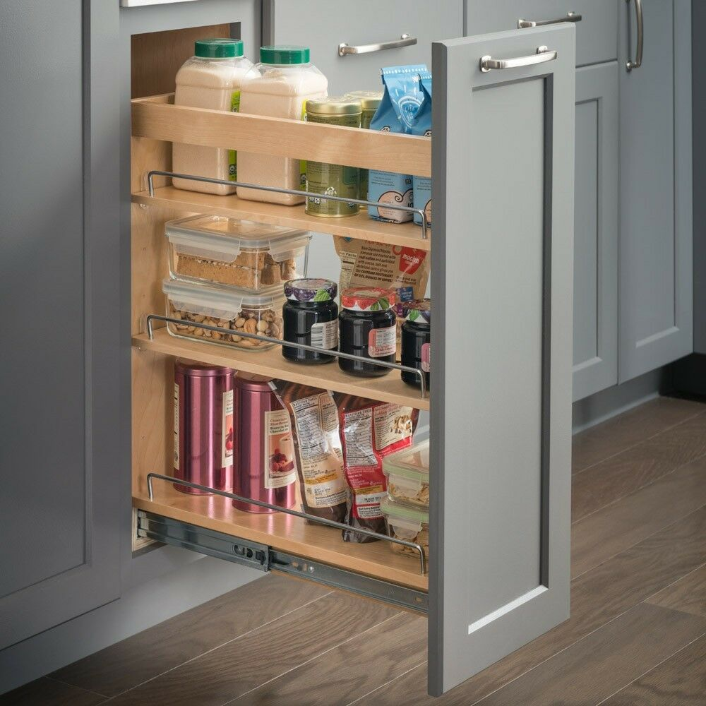 8 Inch Wide Maple Kitchen CabinetBase Cabinet Pullout 8