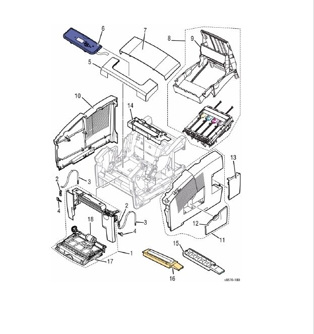 Xerox Colorqube Printer spare parts for 8570 8580 8870