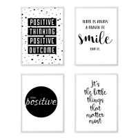 Inspirational Quote Wall Art Canvas Posters Black White ...