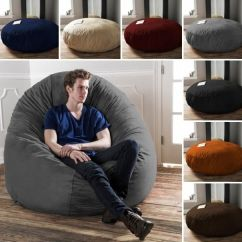 6 Foot Bean Bag Chair White Barber Uk Durable Microsuede Ft Beanbags Chairs Beanbag Details About Kids Dorm New