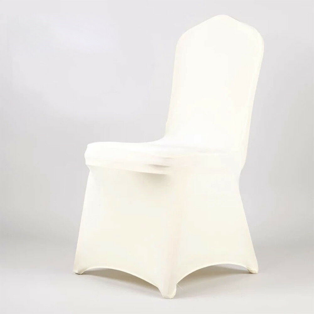 chair covers ivory papasan round lounge 10 20 50 100 spandex stretch wedding party details about banquet reception
