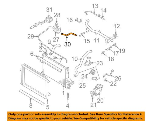 small resolution of volvo oem 01 09 s60 2 4l l5 radiator overflow hose 30680923 ebay 2003 volvo v70 t5 l5 23 exhaust components diagram