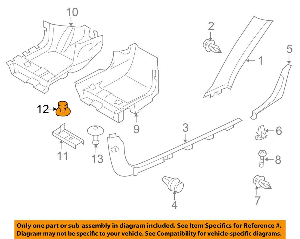 hight resolution of details about volvo oem 06 13 c70 interior carpet clip 8641613
