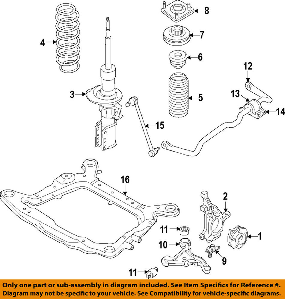 hight resolution of details about volvo oem 10 15 xc60 front suspension steering knuckle spindle 31451327