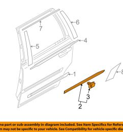 details about volvo oem 13 14 xc90 rear door body side lower molding trim right 39823082 [ 1000 x 798 Pixel ]