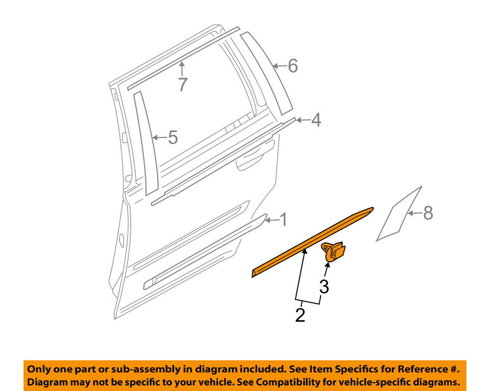 hight resolution of details about volvo oem 13 14 xc90 rear door body side lower molding trim right 39823082