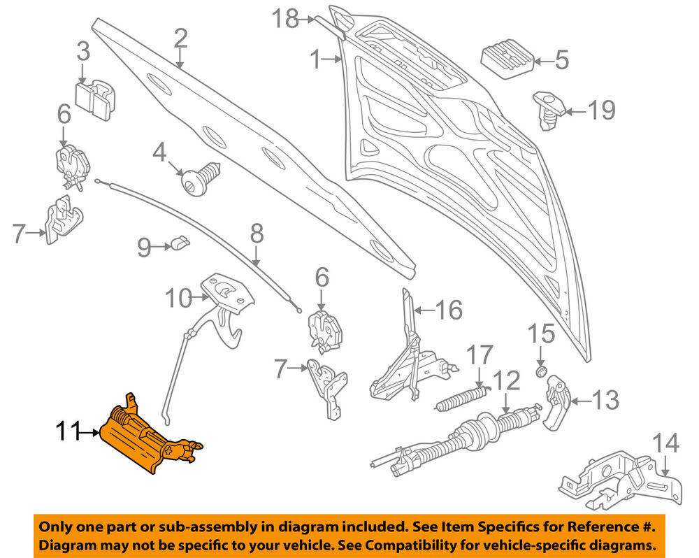 hight resolution of details about volvo oem 98 00 v70 hood release lever 9170229