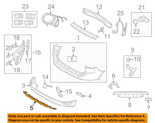small resolution of details about volvo oem 16 17 xc60 rear bumper protect plate 31425494