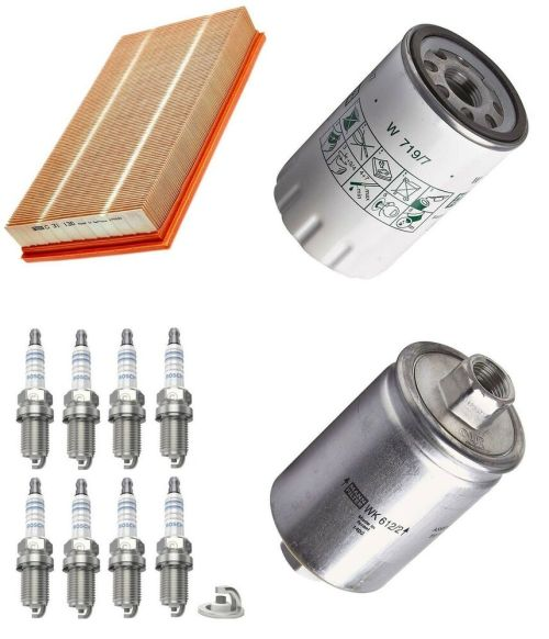 small resolution of details about service kit fits jaguar xj 8 x308 4 0 mann air oil fuel filter bosch spark plugs