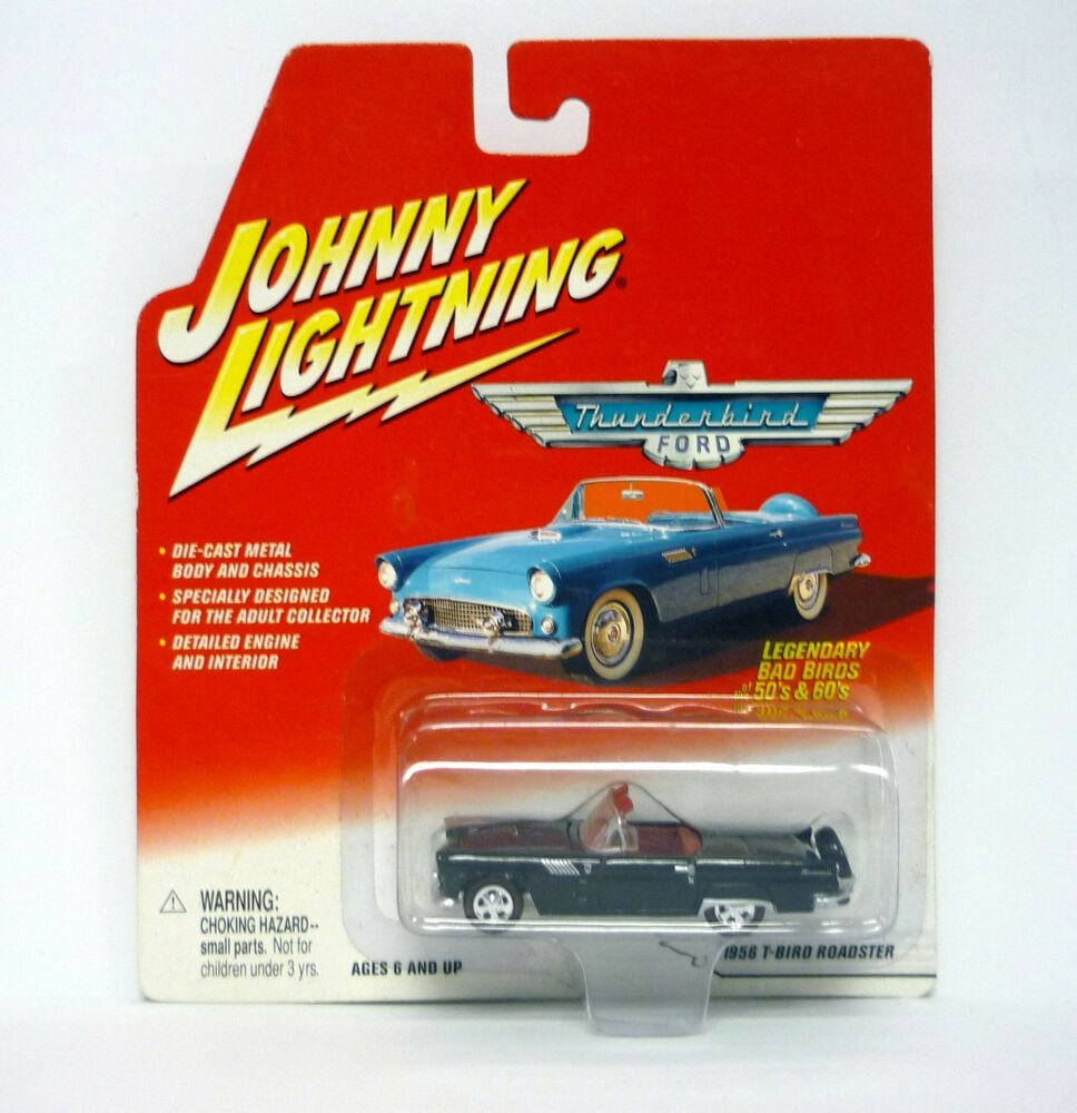 hight resolution of details about johnny lightning 1956 t bird roadster thunderbird ford die cast moc 2002