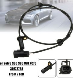 details about front left car abs wheel speed sensor for volvo s60 s80 v70 xc70 98 10 30773738 [ 1000 x 1000 Pixel ]