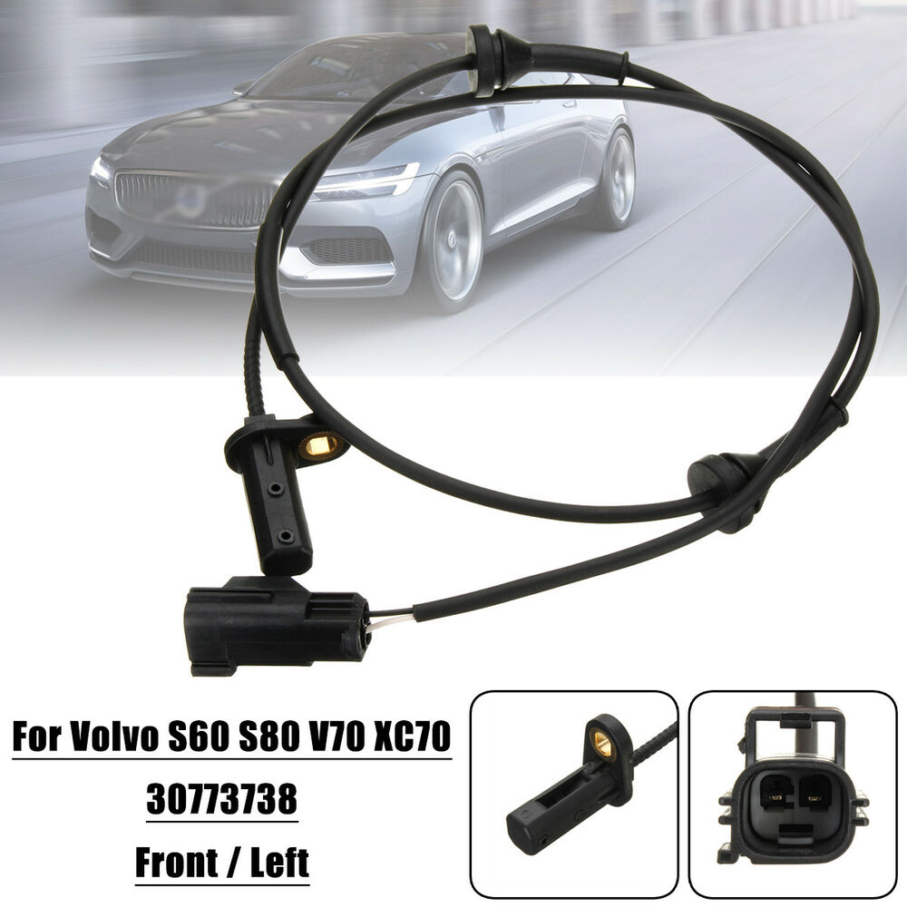 hight resolution of details about front left car abs wheel speed sensor for volvo s60 s80 v70 xc70 98 10 30773738