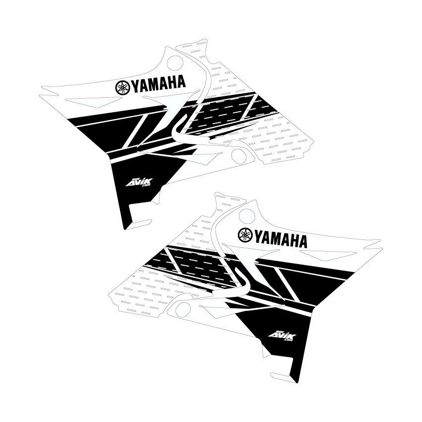 Yamaha yz125 yz250 Retro Shroud Graphics for UFO Restyle