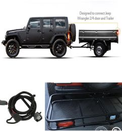 details about 65 trailer hitch wiring harness 4 pin connector for jeep wrangler jk 2 4 07 17 [ 1000 x 998 Pixel ]